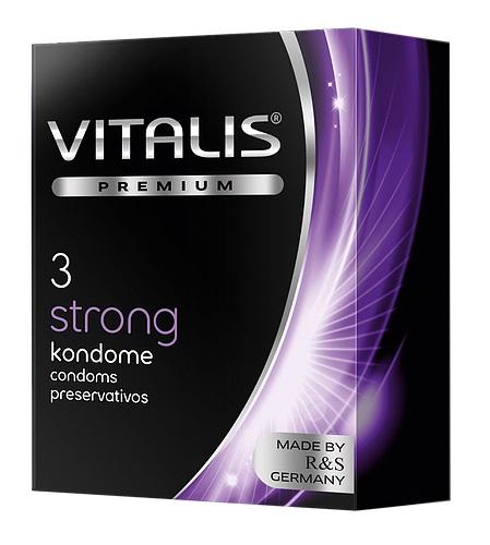 "con80037 - Презервативы ""Vitalis Premium Strong"", 3 шт."